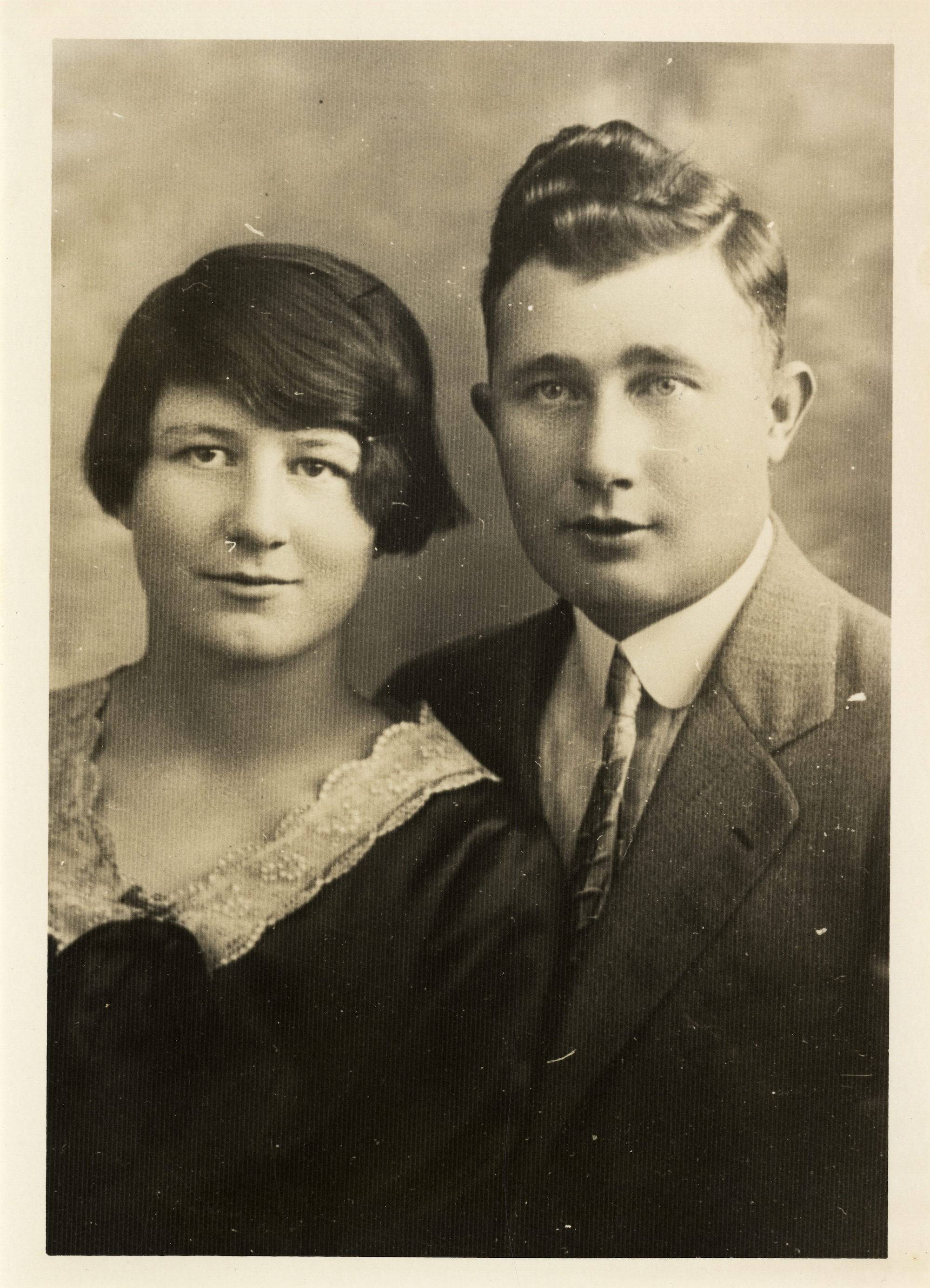 Nellie-Pheig Sayers and her brother Pats Guiheen. Taken in Springfield soon after Nellie's arrival in 1928.